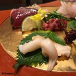 お料理 七草 - 石垣貝、鯨 鹿の子、鰹土佐造り