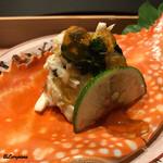 お料理 七草 - 菱蟹 柑橘ジュレ掛け