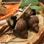 お料理 七草 - 梅貝にキャビア