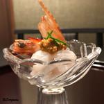 お料理 七草 - 熊海老 湯霜造り