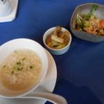 94929496 - スープ、香の物、小鉢