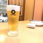 生ラム じんのすけ - 生ビール 450yen