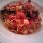 9493659 - モッツァレラチーズと揚げ茄子とベーコンのトマトソーススパゲティー¥1207