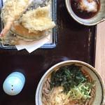 天ぷら海鮮いっ福神戸北店 - 天ぷら温そば付き定食。お得!