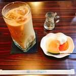 きゃらばん - アイス オ・レ 500円 サーピスのフルーツヨーグルト