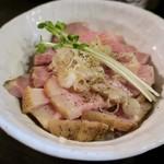 麺処 夏海 - 限定丼「塩ブタ丼」(350円)