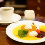 文明堂茶館 ル・カフェ - すてらプディングとコーヒーセット (¥950)
