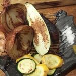 予祝のてっぺん - 季節野菜の鉄板焼
