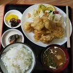 福村食堂 - とり天定食(普通盛)