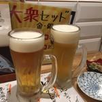 大衆海鮮酒場レオタード - ビールで乾杯