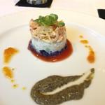 94945373 - ズワイガニとホタテ 彩り野菜のタルタル