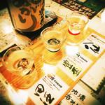 津軽郷土料理 がるがる新宿店 青森居酒屋 - 青森地酒3種呑み比べセット