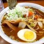 板橋大勝軒なりたや  - 料理写真:野菜ラーメンのネギトッピング!
