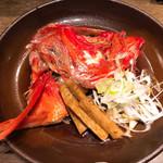 寿司の磯松 - 金目鯛かぶと煮