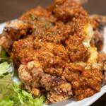 彩波 - 2018.10 フライドチキンのチリコンがけ(750円)肉+肉の鬼ジャンクフード