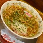 龍上海 - 赤湯しょうゆラーメン(750円)2018年10月