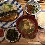 博多ふくいち - さば煮定食¥1000(税別)
