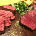 94965459 - 本日のオススメ肉(カイノミ/熟成ランプ)