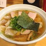大阪麺哲 - 肉醤油雲呑(1300円)