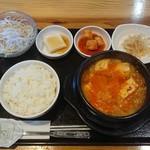 94966936 - スン豆腐チゲセット