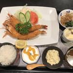 魚料理 一心 - ジャンボ海老フライ定食 1750円