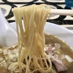 寺カフェ 中華そば水加美 - 煮干そばの麺