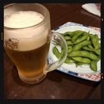 和み家 魚えん - 枝豆&生ビール