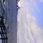 サンセット ドリーム - ぺシ岬海岸から眺めた夕日丘(3月末)