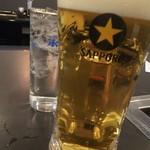 やきにく屋 - 生ビール大♪