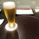 天ぷら 東山 - 生ビール税込500円('18.9月下旬)