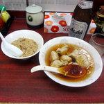 麺厨房 - 水餃子セット680円