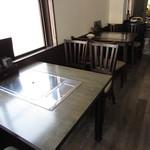 神戸牛炭火ステーキ・逸品 寅松の肉たらし - テーブル席