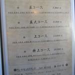 神戸牛炭火ステーキ・逸品 寅松の肉たらし - コースメニュー