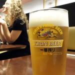 まるや本店 - 生ビール(一番搾り)