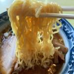 アルプス食堂 - アルプスラーメン の麺