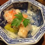 94985355 - ②海老と野菜のマリネ。