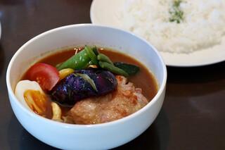 カリーヤ!コング - チキン野菜(知床産もも肉ソテー)辛さ40番