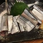 喜の川 - 料理写真:秋刀魚の刺身です。