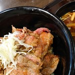 まこと家 - ステーキ丼(990円・別)
