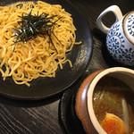 麺処 松。 - 料理写真:のうこく醤油つけ麺(オリジナル麺) 750円