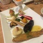 GIRINO - お野菜や魚をカレーにつけていただきます