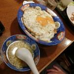 白楽天 - 焼豚玉子飯(片面焼き)