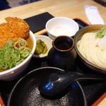 うどん居酒屋 江戸堀 - カレーカツ丼定食