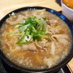 うどん居酒屋 江戸堀 - にんにく肉うどん