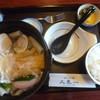 久良一 - 料理写真:'18/10/21 川幅白だしうどん(税込990円)+半ライス(税込160円)