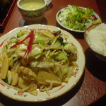95347 - 日替わり定食(野菜炒め)