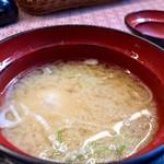 明治亭 - ソースかつ小盛り丼 1,289円 セットの味噌汁