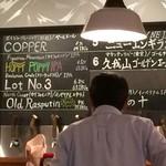 ゴールデンリバー - ビールメニュー看板