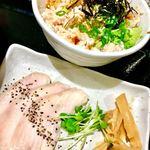 らーめん 一宮鶏白湯 鶏神 - 鶏チャーシューご飯