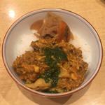 饗 くろ喜 - バジルチキンカレー飯(饗 くろ㐂)※限定セットメニュー 2018.10